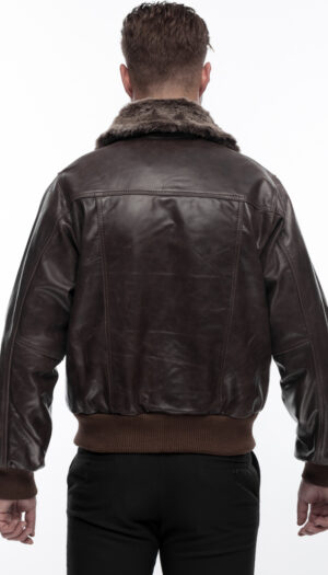 MEN'S JACKET IN BROWN LEATHER