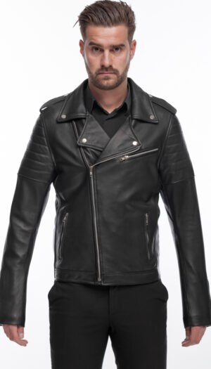 Perfecto Men Black Leather Jacket
