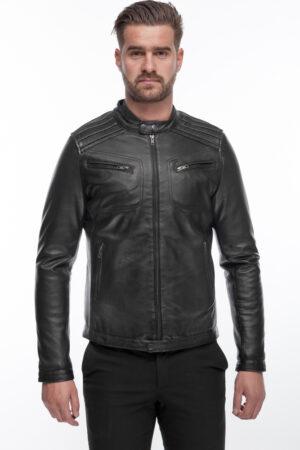 Men's Modern Cool and Stylish Black Leather Jacket