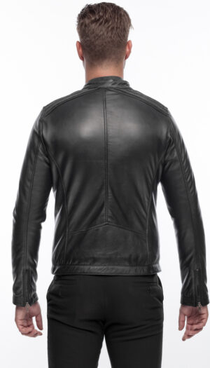 Men's Modern Cool and Stylish Black Leather Jacket