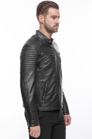 Mens Stylish Super Soft  Leather Fitted Jacket