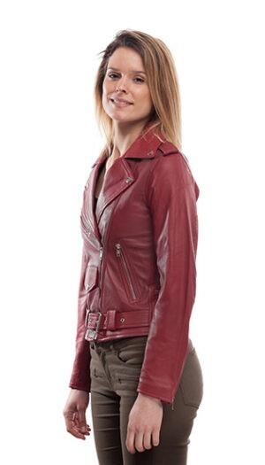 Women's Leather Biker Jacket Stylish Super Soft Fitted Jacket