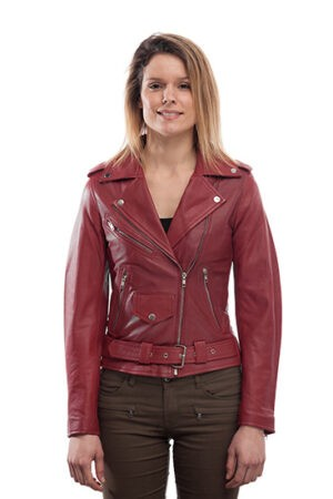 Women's Leather Biker Jacket Stylish Super Soft Fitted Jacket
