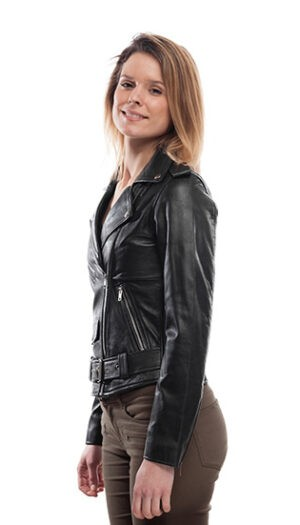 Women's Leather Biker Jacket Stylish Super Soft Leather Fitted Jacket