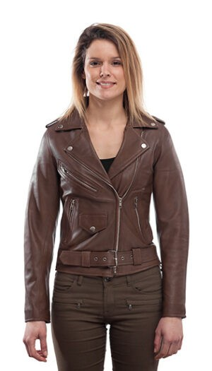 Women's Leather Biker Jacket Stylish Super Soft And Fitted Jacket